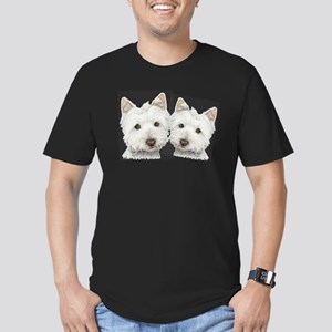 Two Cute West Highland White Dogs Men's Fitted T-S